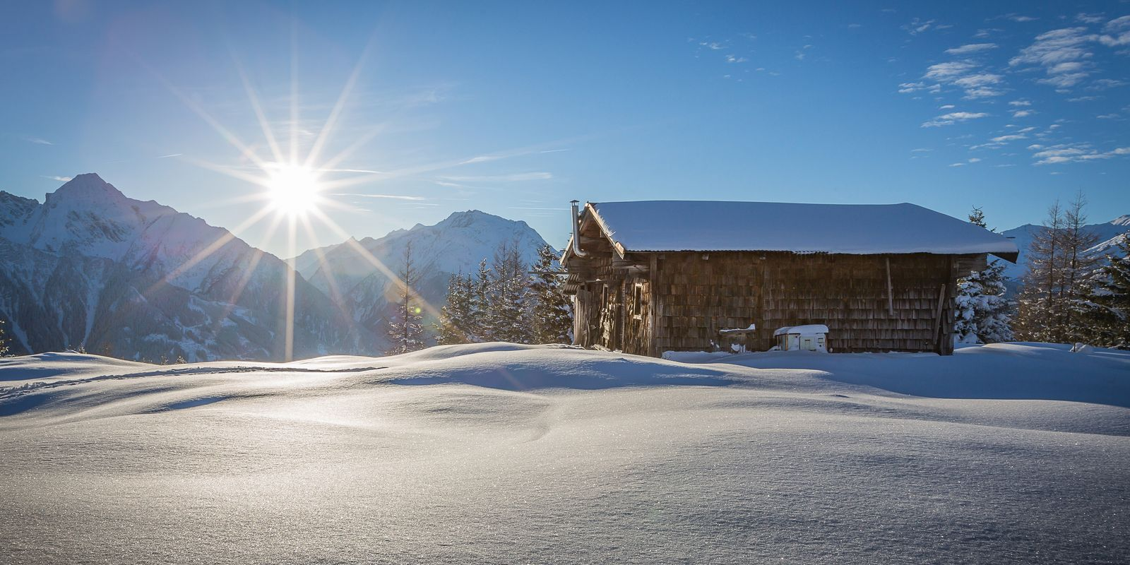Snow-covered Zillertal