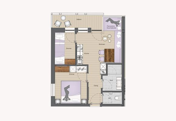 Floor plan for Apart PASTEL