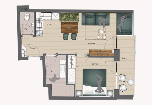 Floor plan for Apart OLIVE
