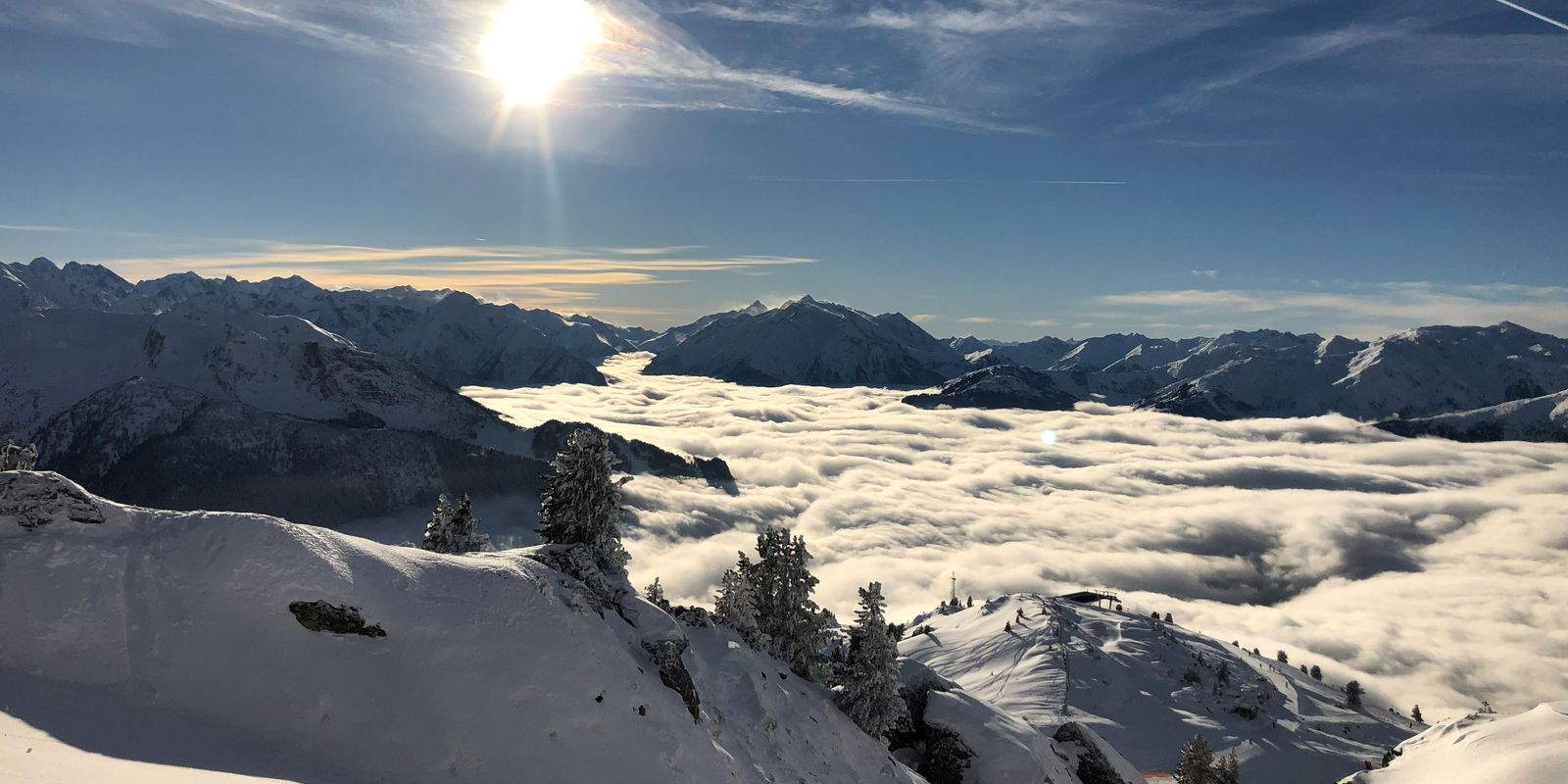 The Zillertal in a sea of clouds